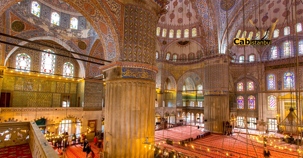 What is the Blue Mosque famous for?